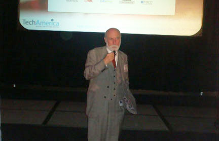 Vinton Cerf addresses the TechAmerica Reception