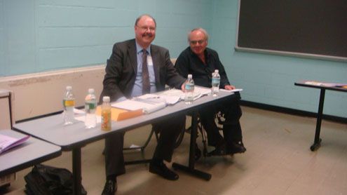 Art Hendela and Marinos Xanthos judge the 2009 NJ Chemistry Olympics at NJIT